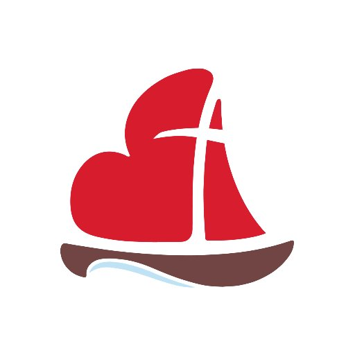 The Logo of the Toronto Office of Vocations- a Cross within a heart that is the sail for a boat